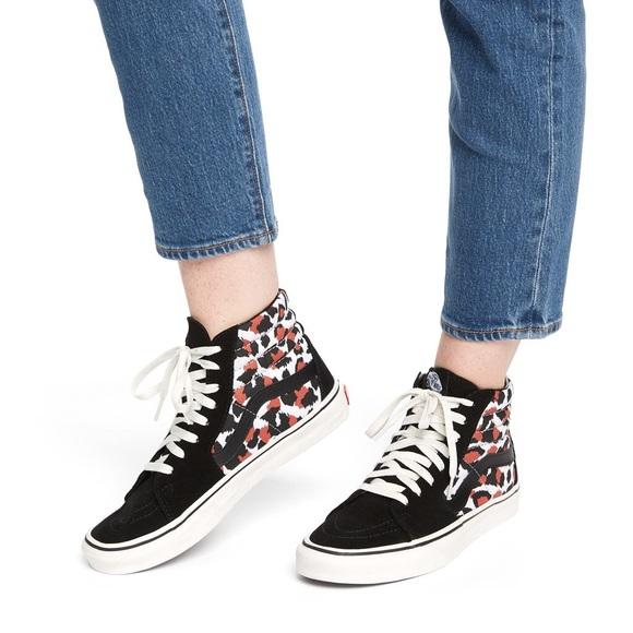 Vans Shoes | Vans Sk8hi Leopard Black